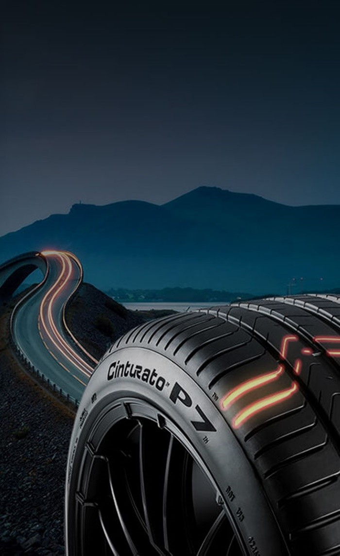 Lốp Cinturato P7 giảm tiếng ồn, tăng hiệu quả phản hồi lái.