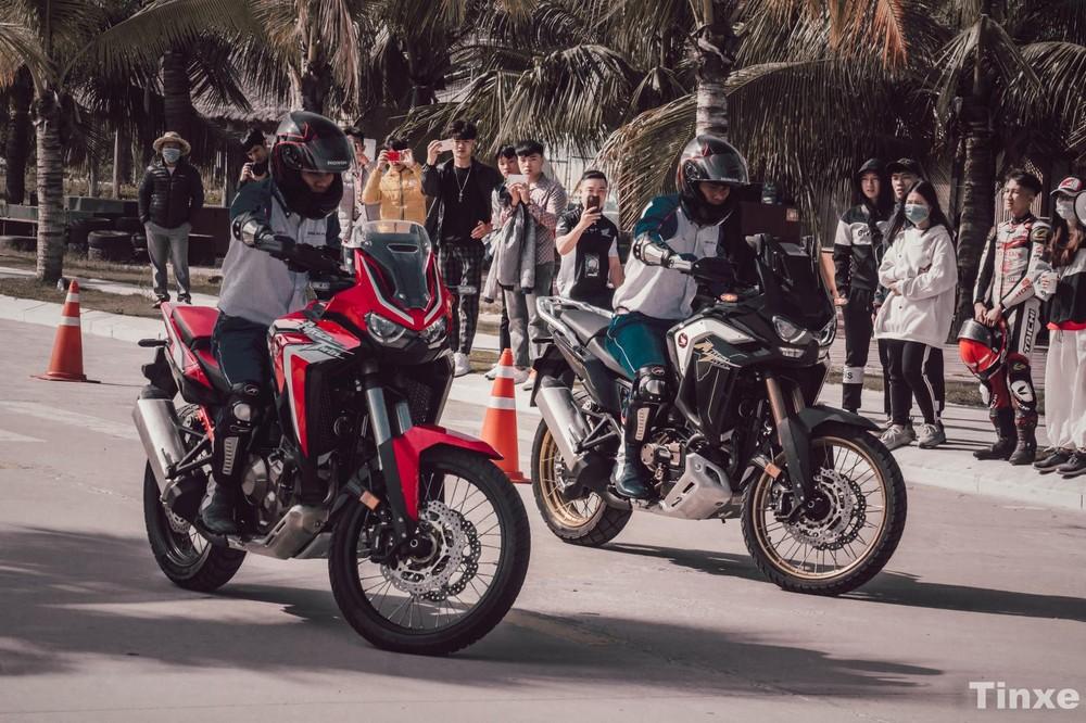 Cạp đôi Honda Africa Twin 1100L 2020 tại Honda Biker Day 2020
