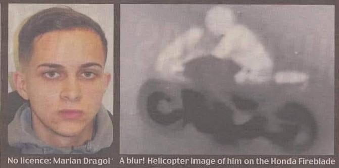 Marian Dragoi đã buộc lực lượng cảnh sát phải dùng máy bay trực thăng để truy đuổi