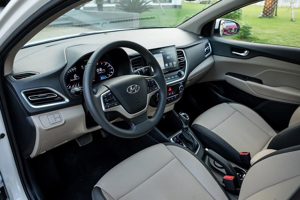 Nội thất của Hyundai Accent 2021.