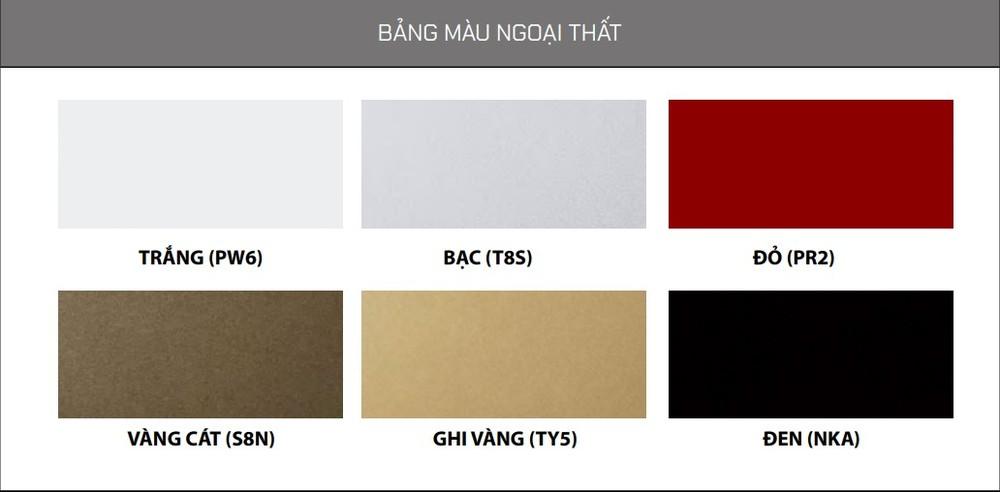 Màu sắc ngoại thất tùy chọn của Hyundai Accent 2021.