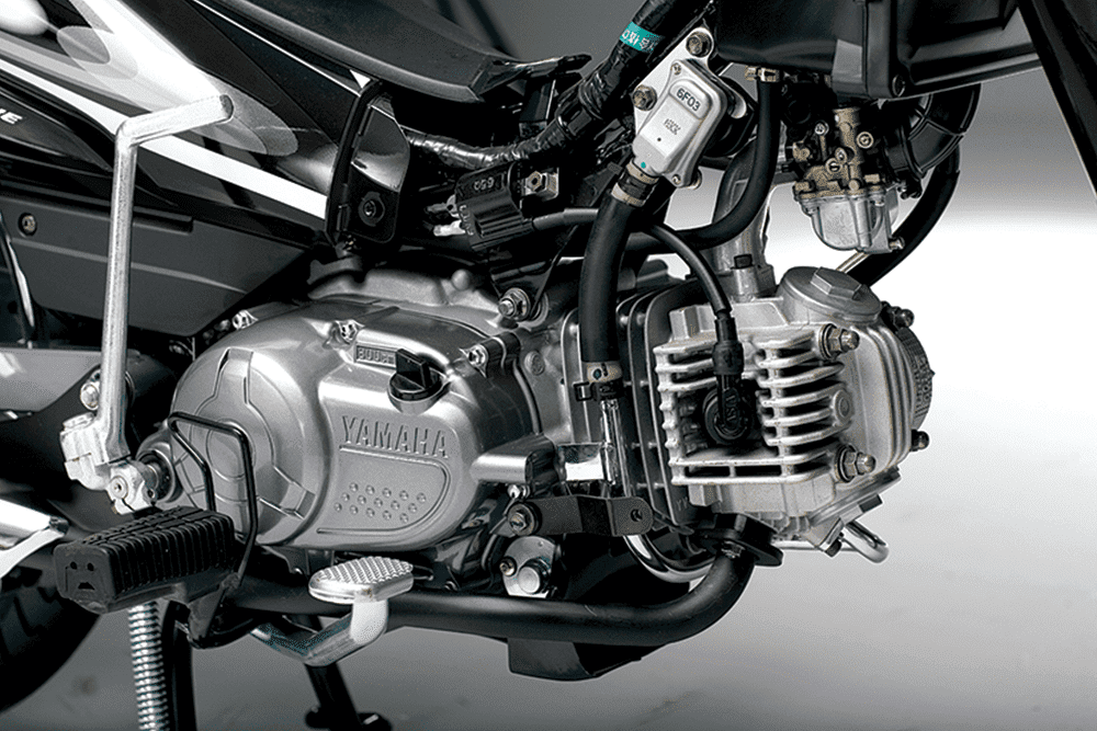 Xe Yamaha Sirius sử dụng động cơ xylanh đơn 4 thì, SOHC, dung tích 110cc.
