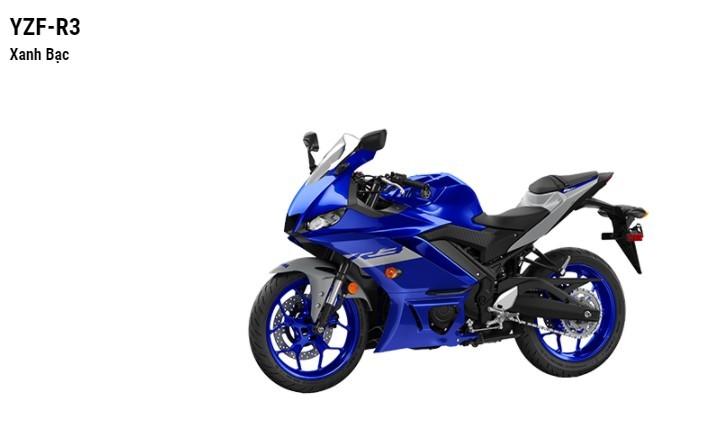 Màu sắc tùy chọn của Yamaha YZF-R3.