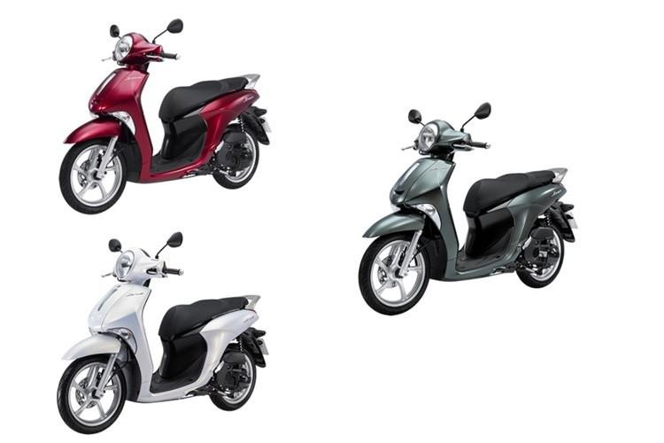 Màu sắc tùy chọn của Yamaha Janus phiên bản tiêu chuẩn.