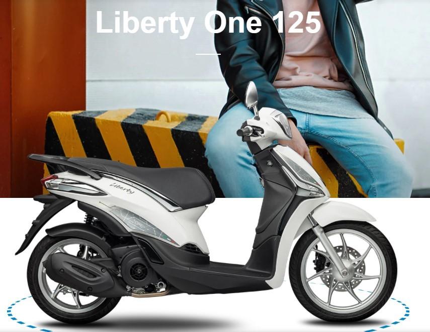 Liberty One 125 phiên bản màu trắng