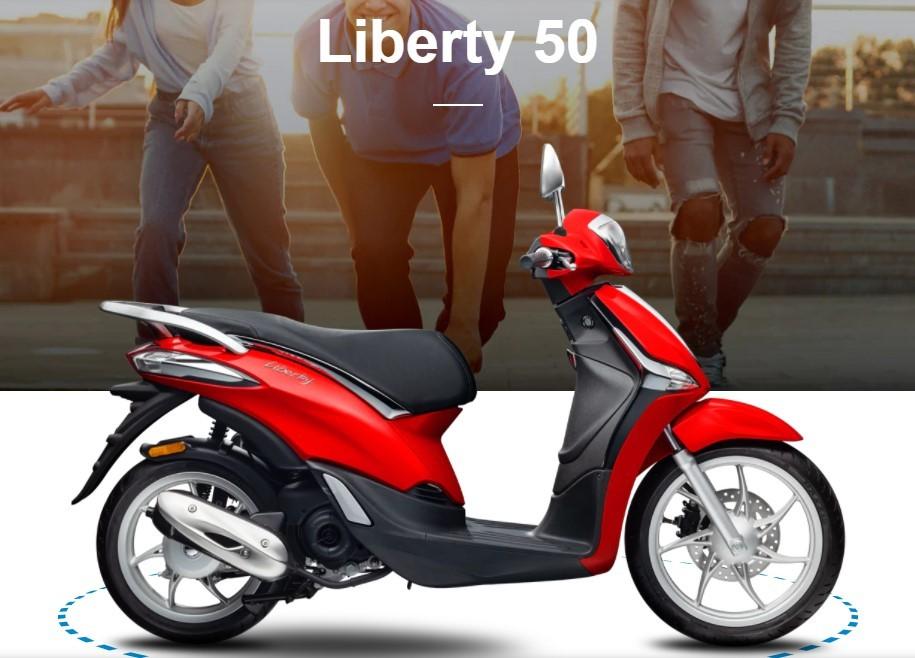 Liberty 50 phiên bản màu đỏ nổi bật