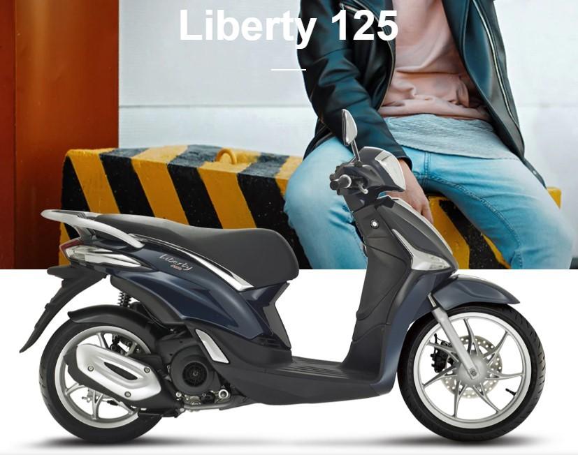 Mẫu xe Liberty 125 màu xanh