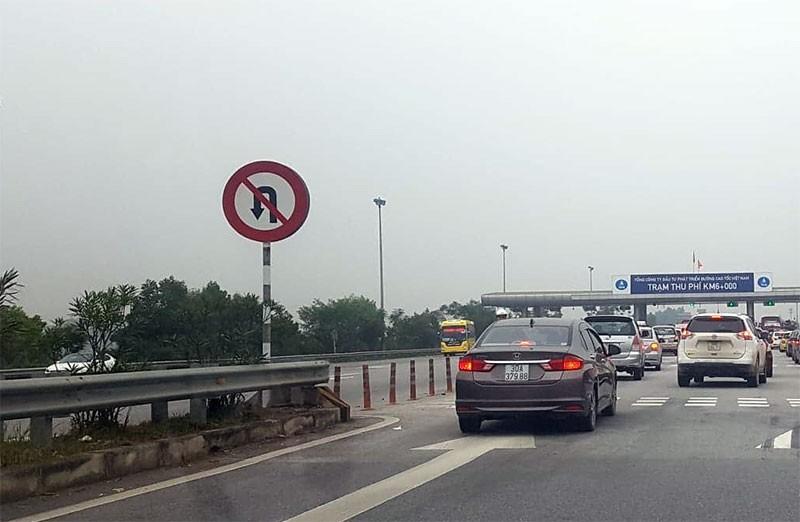 Cấm quay đầu xe trên đường cao tốc