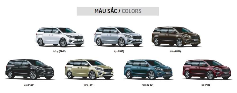 Màu sắc tùy chọn của Kia Senoda 2020.