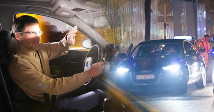 Tài xế ô tô bật đèn pha không đúng quy định sẽ bị phạt 800.000 - 1.000.000 đồng.