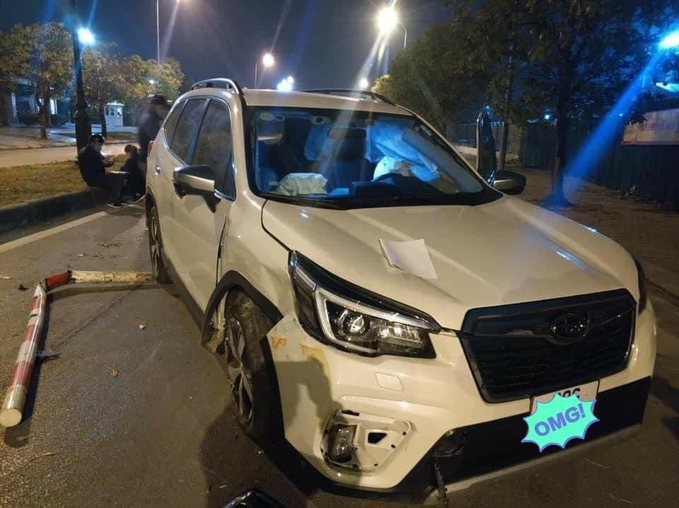 Chiếc Subaru Forester không bị hỏng nặng trong vụ tai nạn này