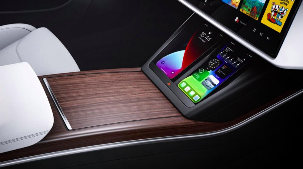 Khay sạc điện thoại thông minh của Tesla Model S 2021