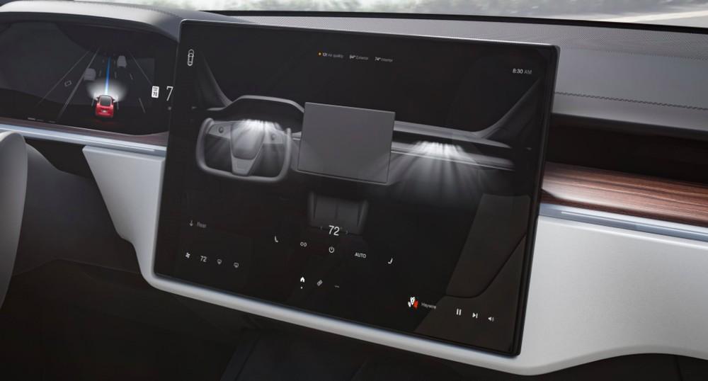 Màn hình thông tin giải trí của Tesla Model S 2021