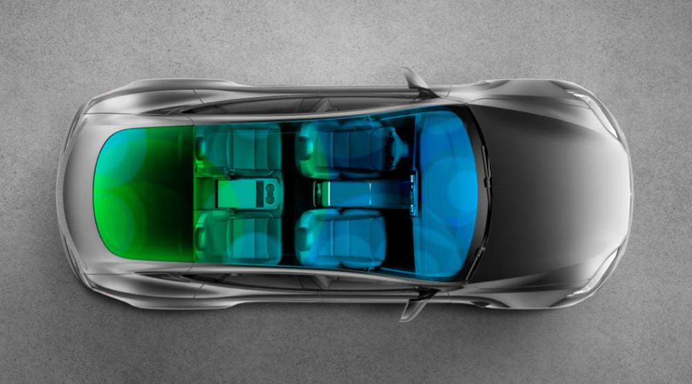 Nóc bằng kính của Tesla Model S 2021 chống tia cực tím