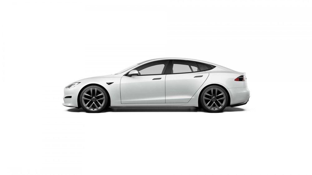 Thiết kế bên sườn của Tesla Model S 2021