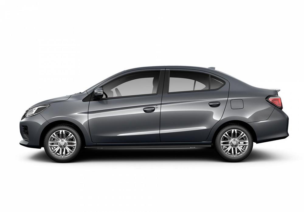 Mitsubishi Attrage tông màu xám hiện đại.