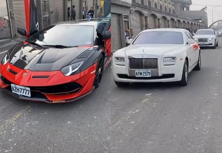 Lamborghini Aventador SVJ và đoàn xe Rolls-Royce rước dâu
