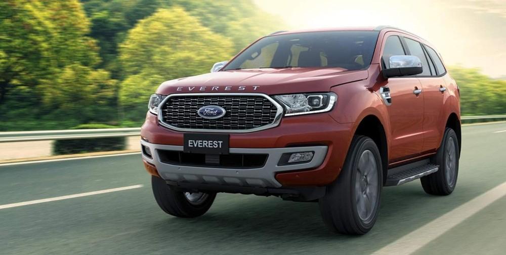 Ford Everest có vẻ ngoài cực kỳ mạnh mẽ, thể thao