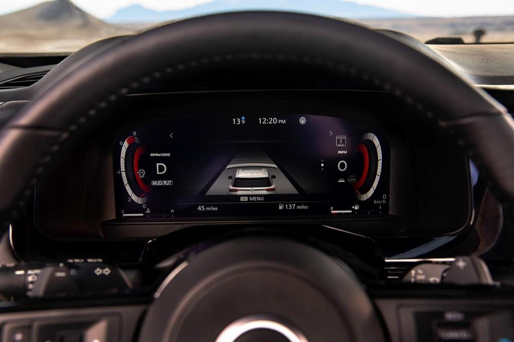 Bảng đồng hồ kỹ thuật số của Nissan Pathfinder 2022