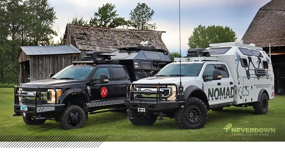 Nomad Tactical Command Vehicle là một trung tâm chỉ huy di động chế tạo dựa trên Ford F-350