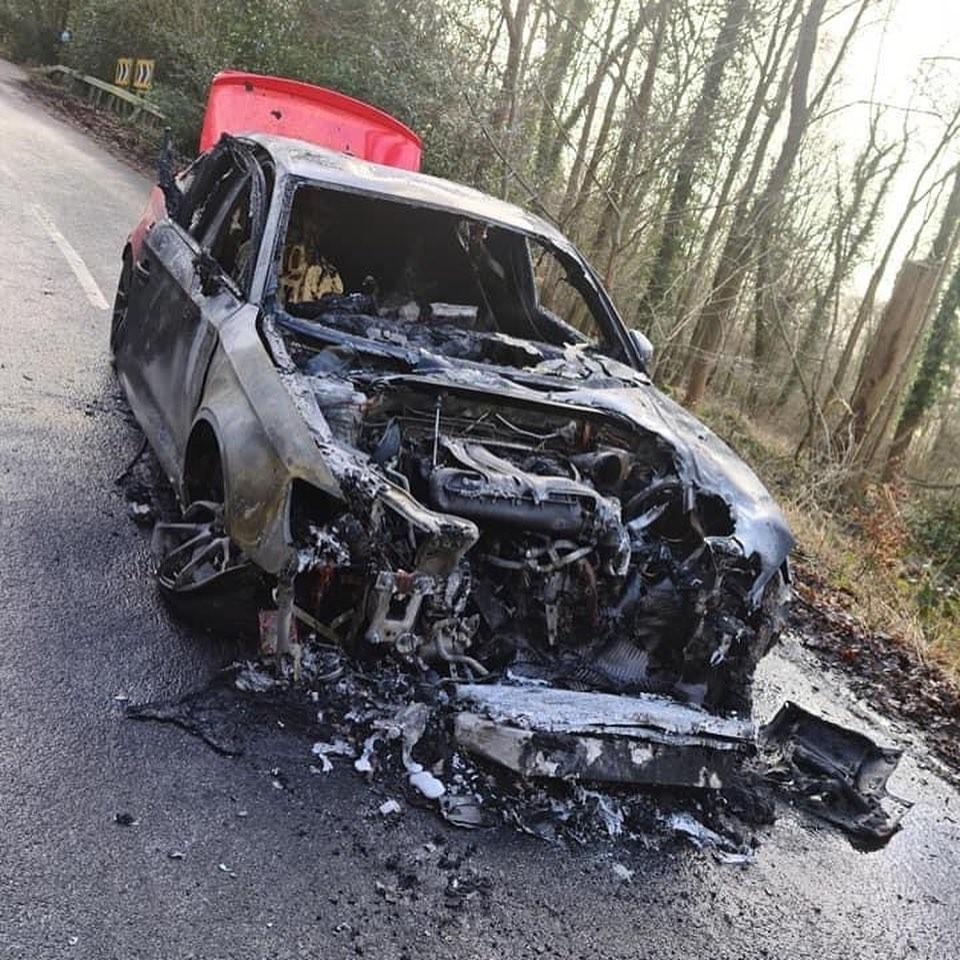 Audi Eventuri Project RS3 đã gặp sự cố bốc cháy, hỏng hoàn toàn