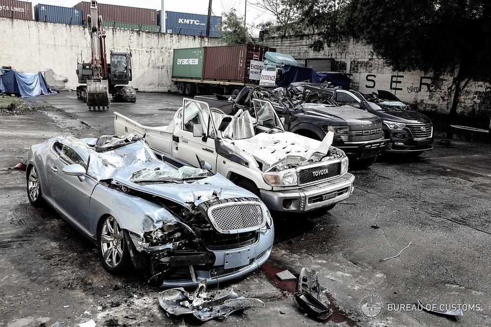 Chưa rõ giá trị của những chiếc ô tô nhập lậu bị tiêu hủy tại Philippines