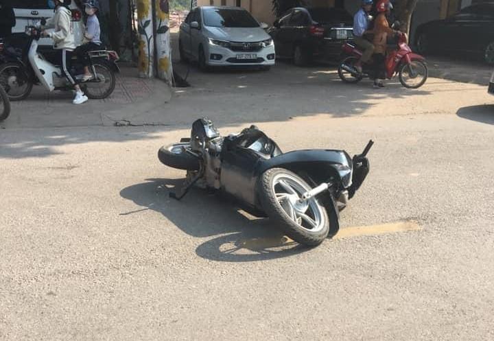 Chiếc xe Honda SH hư hỏng nặng