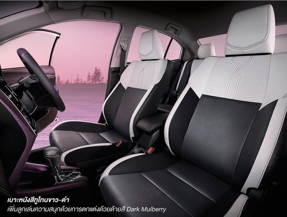 Ghế của Toyota Vios PLAY và Yaris PLAY 2021 phối màu đen - trắng