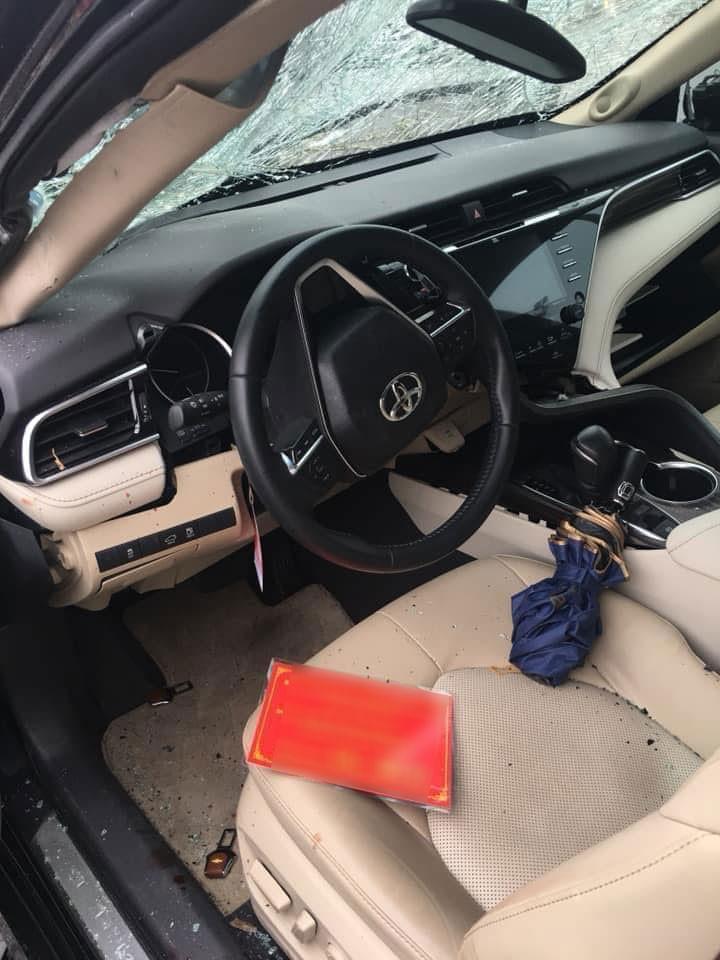 Túi khí bên trong chiếc Toyota Camry không bung