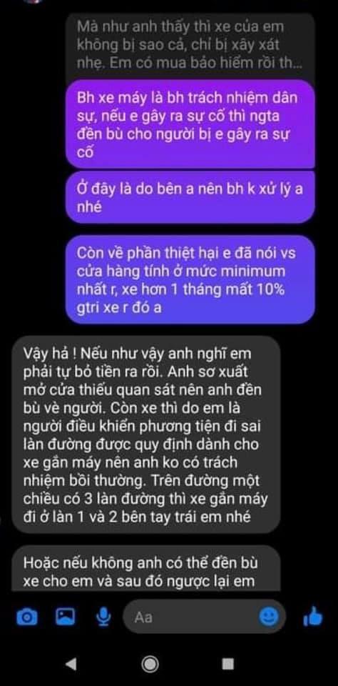 Những đoạn tin nhắn trao đổi giữa Huỳnh Anh và phía nạn nhân