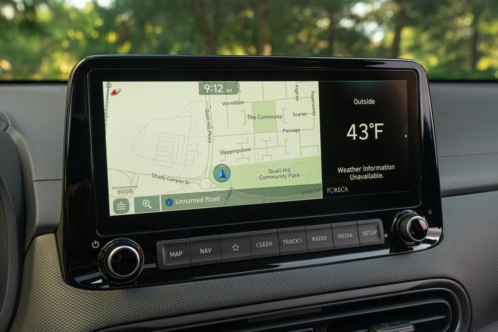 Màn hình thông tin giải trí 10,25 inch của Hyundai Kona 2022
