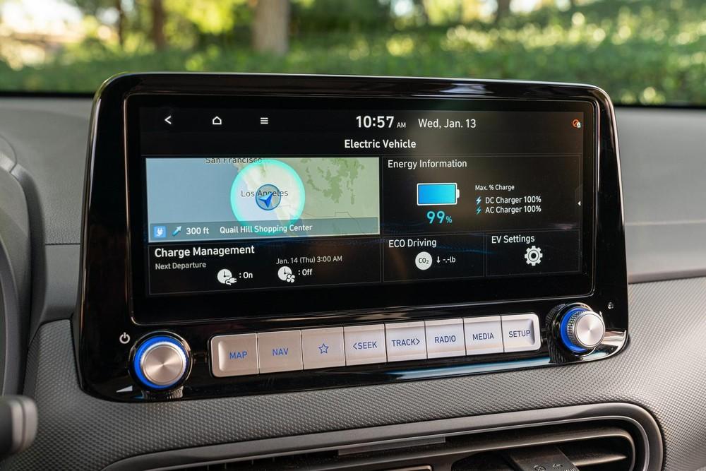 Hyundai Kona Electric 2022 có cả hệ thống sạc nhanh
