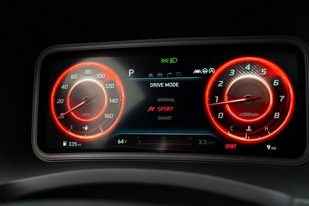 Bảng đồng hồ của Hyundai Kona N Line 2022