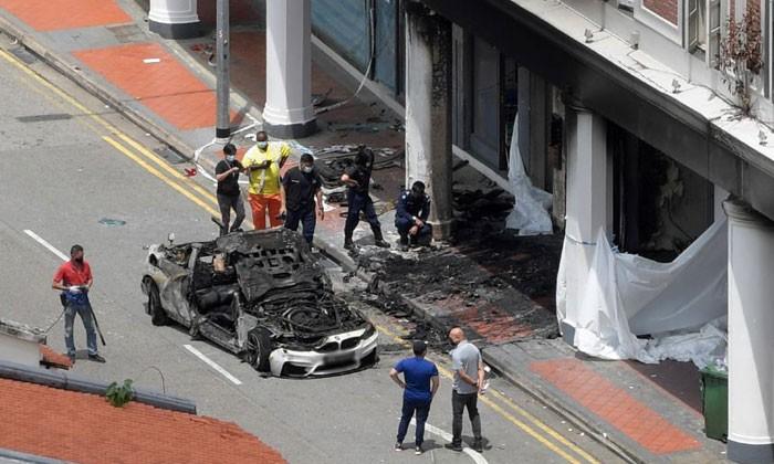 Chiếc BMW M4 bị hư hỏng hoàn toàn sau vụ tai nạn