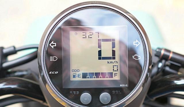 Màn hình hiển thị trên Yamaha Vinoora 125