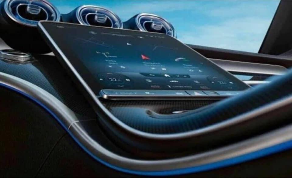 Màn hình thông tin giải trí nằm dọc của Mercedes-Benz C-Class 2022