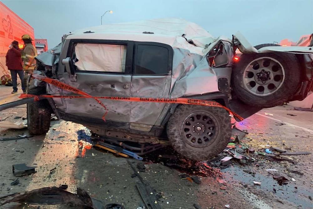 Sau khi chiếc FJ Cruiser bị hư hỏng, anh McDaniel đã được hãng Toyota tặng SUV mới