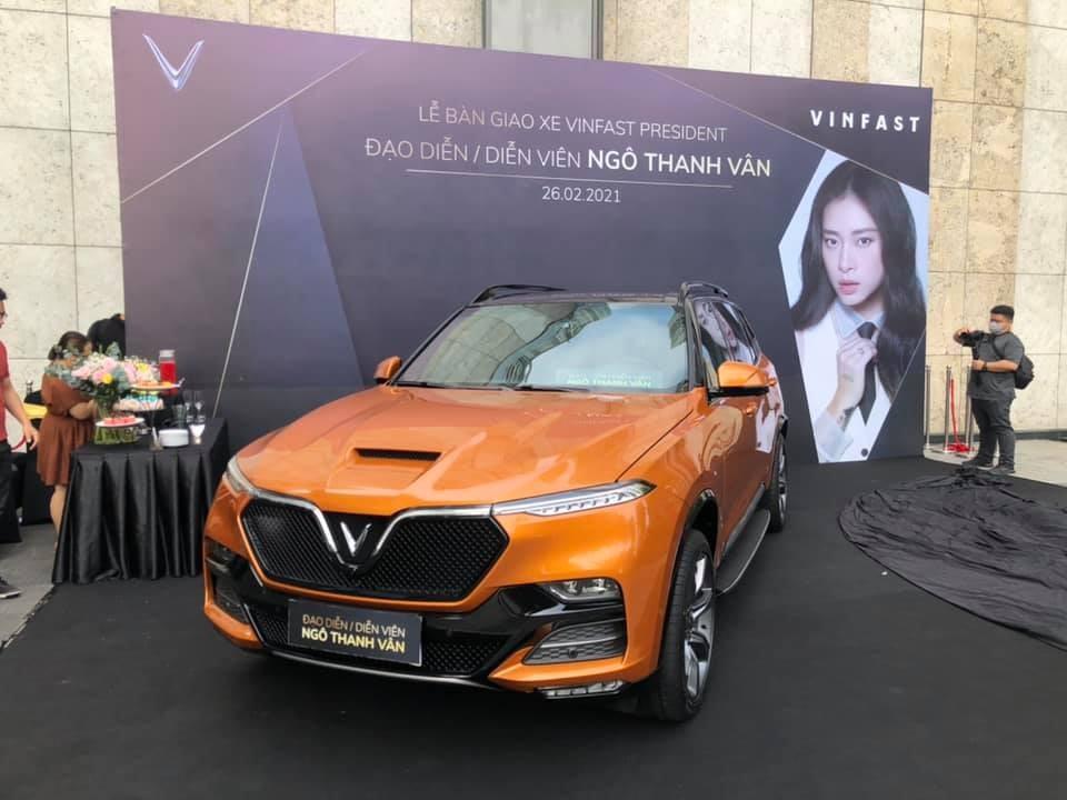 Lễ giao xe VinFast President cho nữ diễn viên Ngô Thanh Vân