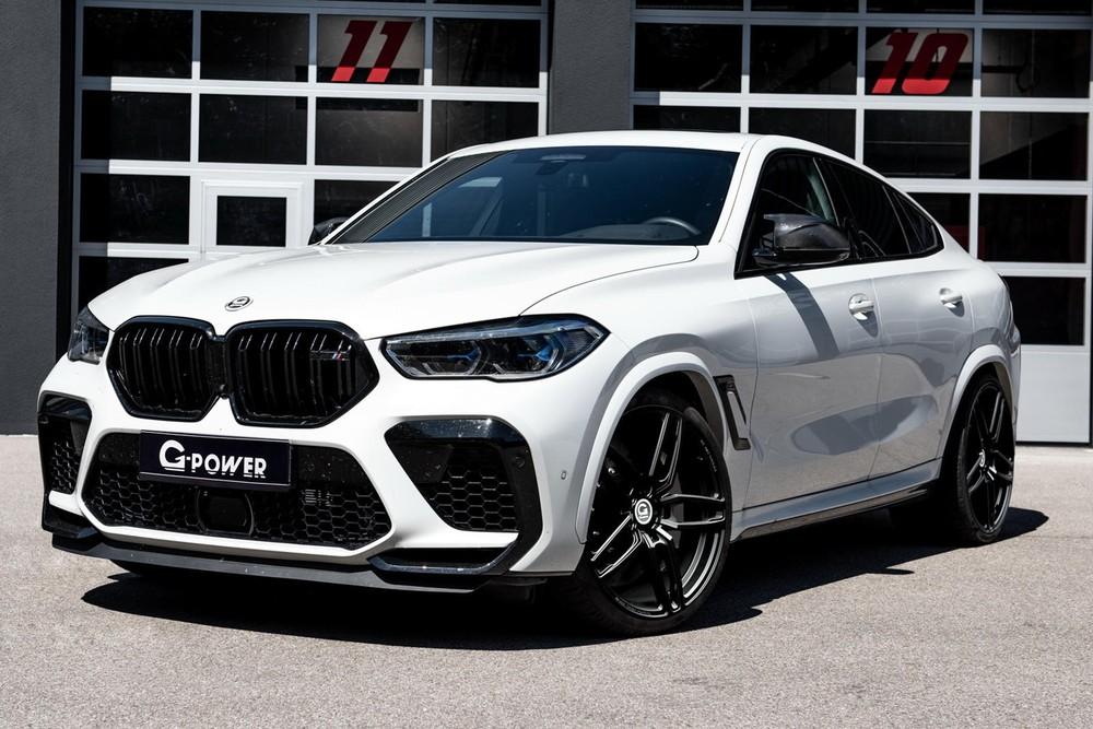 Phía trước của chiếc BMW X6 M độ bởi G-Power