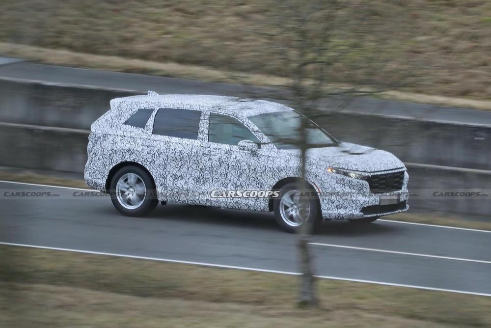 Honda CR-V 2023 bị bắt gặp trên đường thử