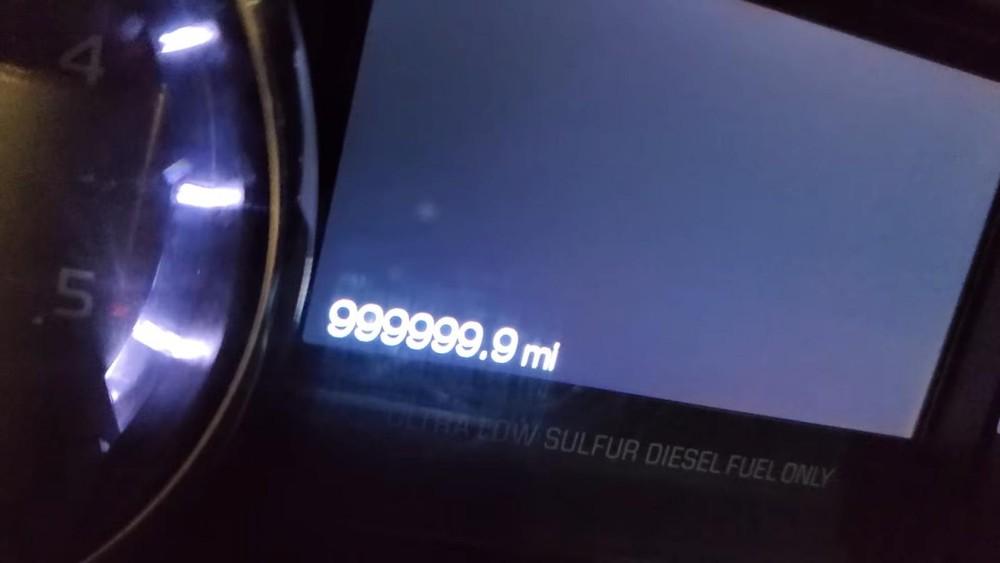Số ODO trên bảng đồng hồ của chiếc Ford F-350 Super Duty