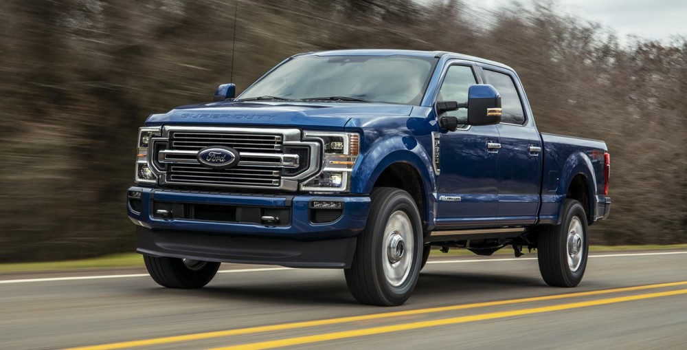 Ford Super Duty 2022 màu xanh dương Atlas Blue