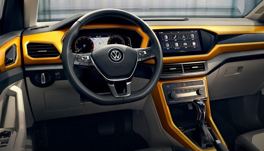 Volkswagen T-Cross 2021 dùng màn hình cảm ứng 8 inch