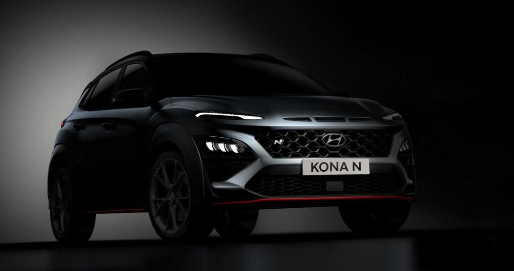 Hyundai Kona N 2021 được hé lộ những hình ảnh đầu tiên