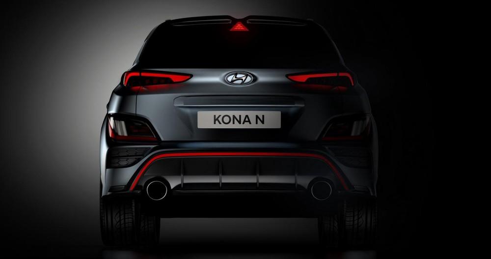 Thiết kế đằng sau của Hyundai Kona N 2021