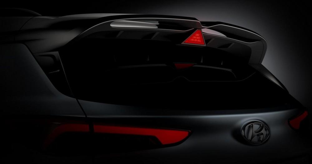 Cánh gió mui đôi của Hyundai Kona N 2021