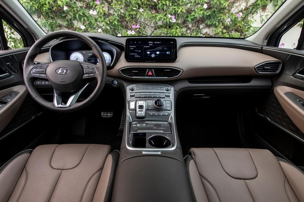 Nội thất của Hyundai Santa Fe 2021 tại thị trường quốc tế.
