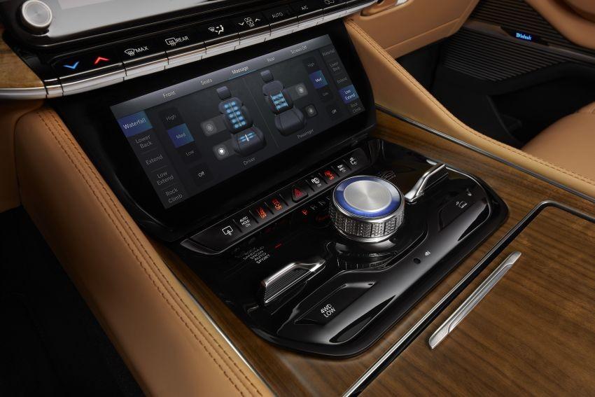 Màn hình cảm ứng chỉnh điều hòa của Jeep Grand Wagoneer 2022