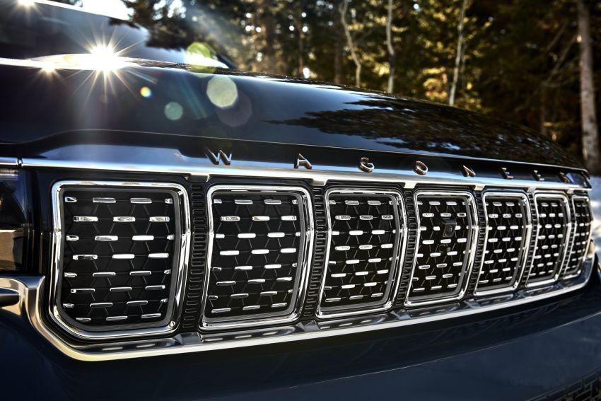 Lưới tản nhiệt của Jeep Grand Wagoneer 2022