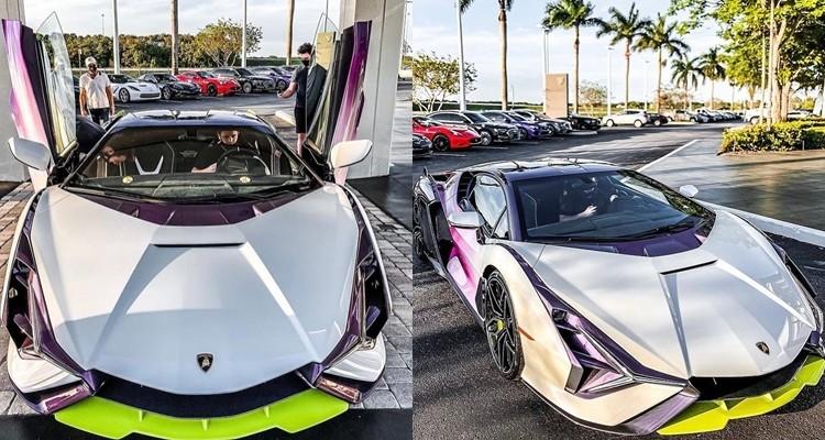 Lamborghini Sian bản giới hạn 63 chiếc tiếp tục đến Mỹ với màu sơn không thể độc hơn